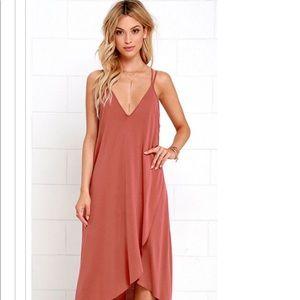 NWT red LULU's high low dress